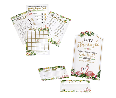 Flamingo Theme Bridal Shower Game Set