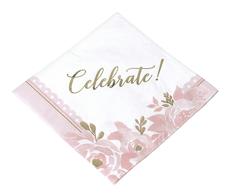 Set of 24 Bridal Shower Napkins