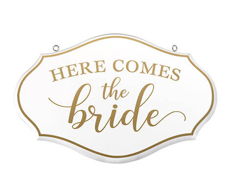 Here Comes the Bride Flower Girl Ring Bearer Sign