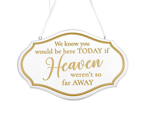 Metallic Gold and White Memorial Wedding Chair Sign