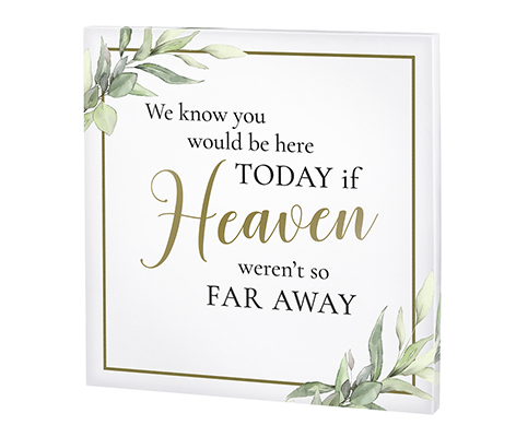 Memorial Canvas in White and Gold