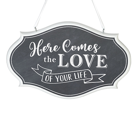Love of Your Life Wedding Sign (Black)