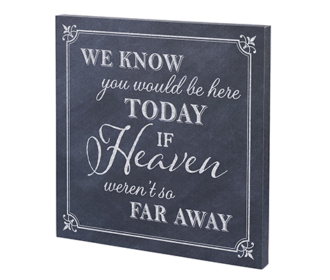 In Memory Loved One Canvas Wedding Sign Decor