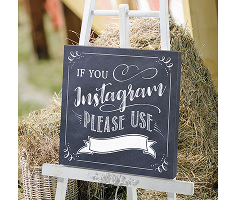 Instagram Hashtag Canvas Wedding Sign Decor