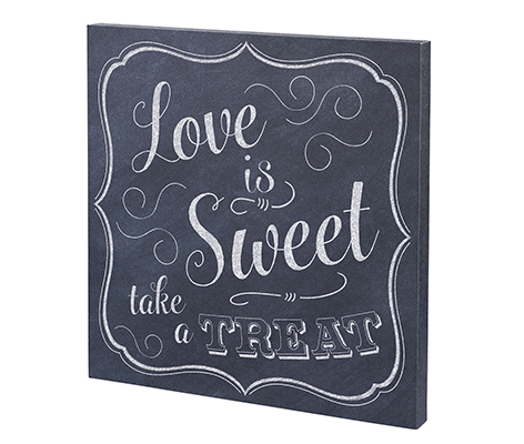 Love is Sweet Canvas Wedding Sign Decor