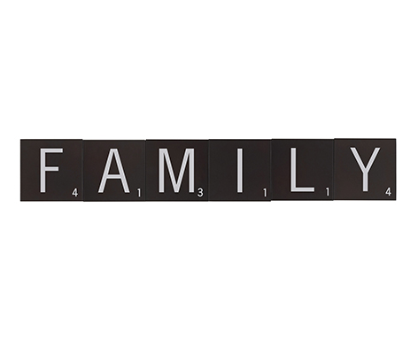 Scrabble Letter Wall Tiles  FAMILY Set