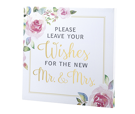 Watercolor Wedding Wishes Sign