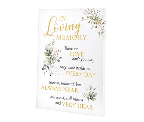 Botanical Theme Wedding Memorial Canvas Sign