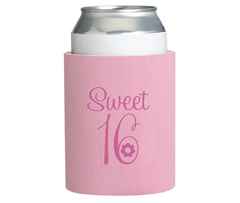 Sweet Sixteen 16 Theme Party Cup Can Cozy
