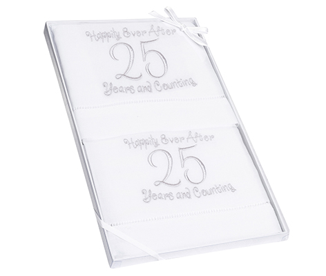 25th Anniversary Gift Towels