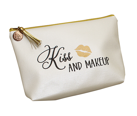 Kiss and Makeup Cosmetic Bag