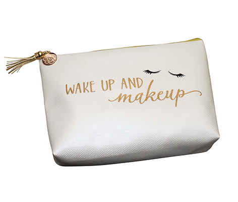 Wake Up and Makeup Cosmetic Bag