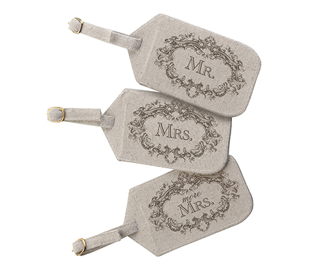 Mr. Mrs. More Matching Couple Luggage Tags