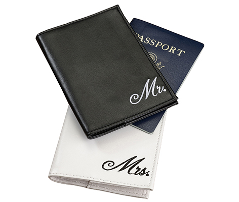 Mr. and Mrs. Matching Couple Passport Covers