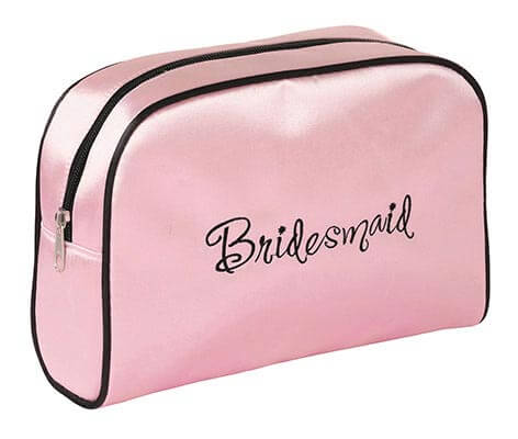 Pink Bridesmaid Travel Accessory Makeup Bag Gift