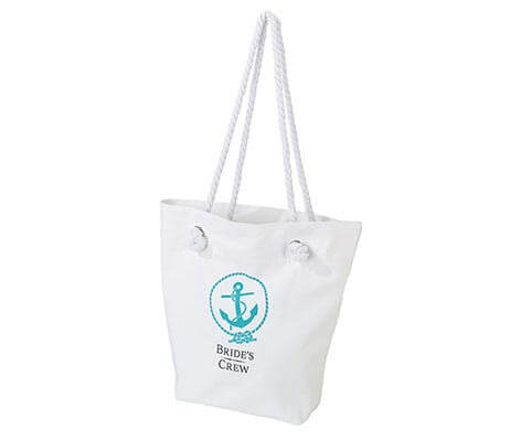 Bride's Crew Beach Tote Bag Bachelorette Party