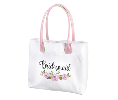 Watercolor Floral Bridesmaid Tote Bag