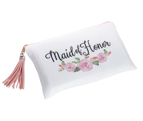 Watercolor Floral Maid of Honor Survival Bag