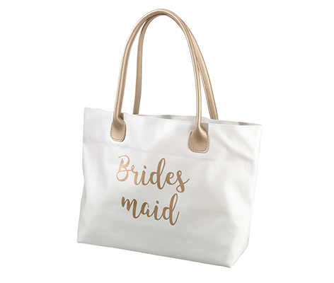Gold Bridesmaid Tote Bag