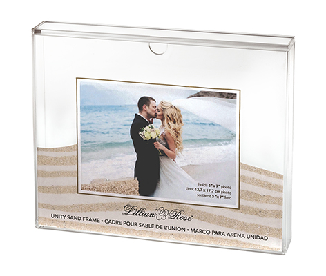 Clear Acrylic Unity Sand Ceremony Photo Frame
