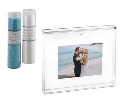 Clear Acrylic Unity Sand Ceremony Photo Frame Set