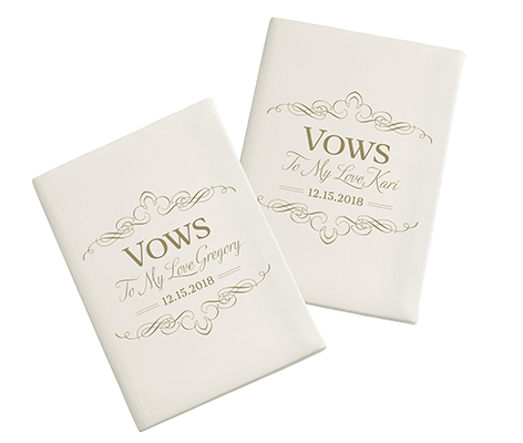 Personalized Wedding Ceremony Satin Vows Books