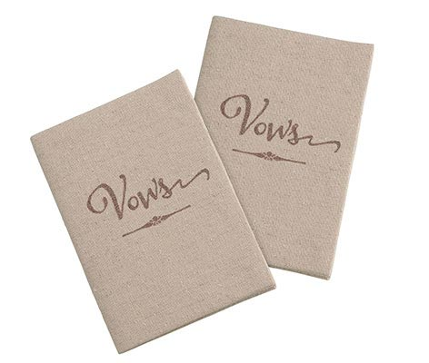 Wedding Ceremony Rustic Tan Vows Books