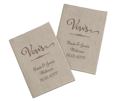 Personalized Wedding Ceremony Rustic Tan Vow Books