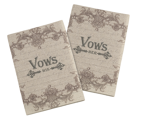 Wedding Ceremony Rustic Tan His and Hers Vow Books
