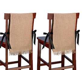 Rustic Country Burlap Chair Covers Wedding Decor