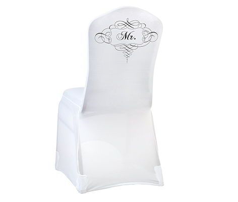 White Mr. Chair Cover Wedding Table Linens Decor