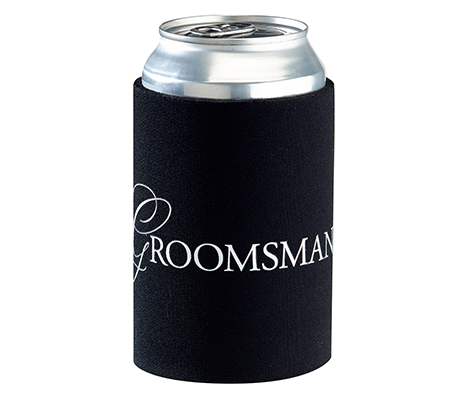 Wedding Party Favors Groomsman Black Can Cup Cozy