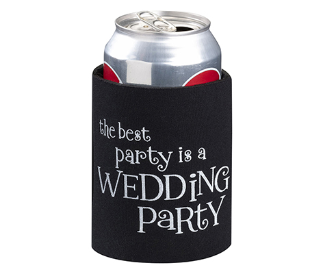 Black Can Cup Cozy Wedding Party Favors