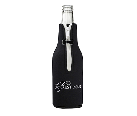 Best Man Wedding Party Gift Bottle Cozy