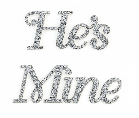 He's Mine Bride Wedding Shoe Stickers