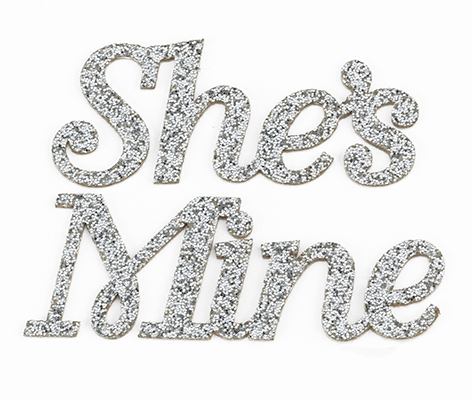 She's Mine Groom Wedding Shoe Stickers