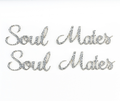 Soul Mates Wedding Shoe Stickers
