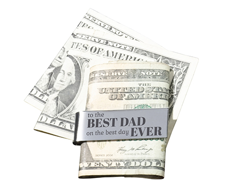 Father Gift Best Dad Silver Money Clip