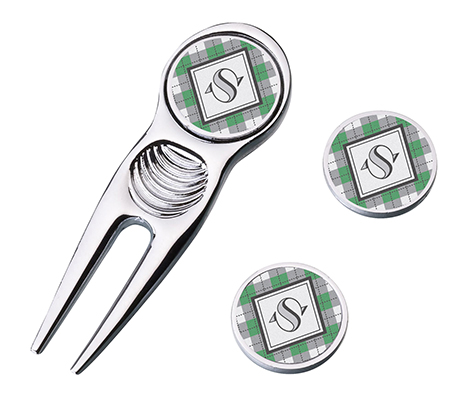 Wedding Gift Argyle Golf Divot Tool and Markers