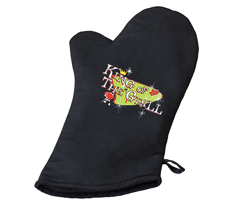King of the Grill Oven Mitt Husband Gift