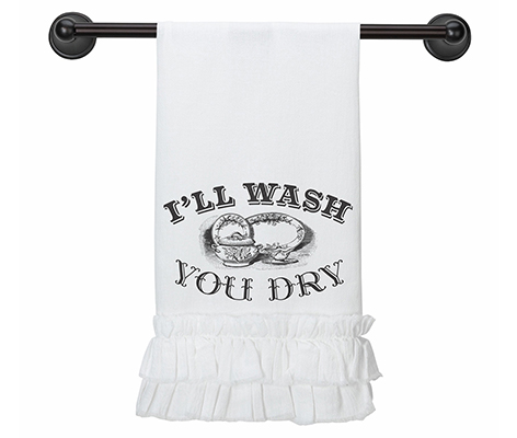 I'll Wash, You Dry Wedding Gift Kitchen Towel