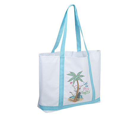 Let the Fun Begin Beach Bag Tote Honeymoon Gift