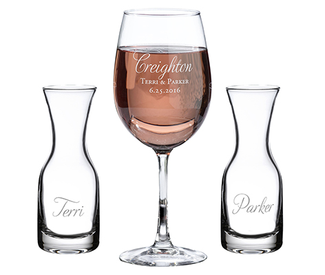 Personalized Wedding Ceremony Unity Wine Set