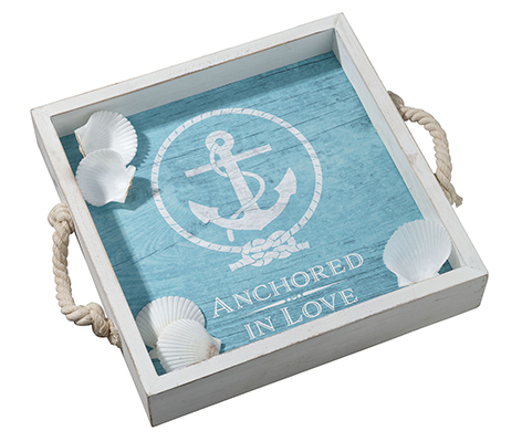 Anchored in Love Wedding Tray