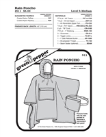 Adult Rain Poncho (511GP) Sewing Pattern