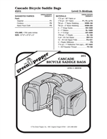 Cascade Bicycle Saddlebags (201GP) Sewing Pattern