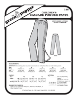 Children's Cascade Powder Pants (146GP) Sewing Pattern
