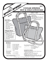 Cougar Springs Hot and Cold Lunch Bag (561GP)  Sewing Pattern