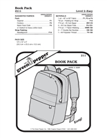 Day Pack (Book Pack) (211GP) Sewing Pattern