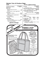 Market Tote & Produce Bag (546GP) Sewing Pattern
